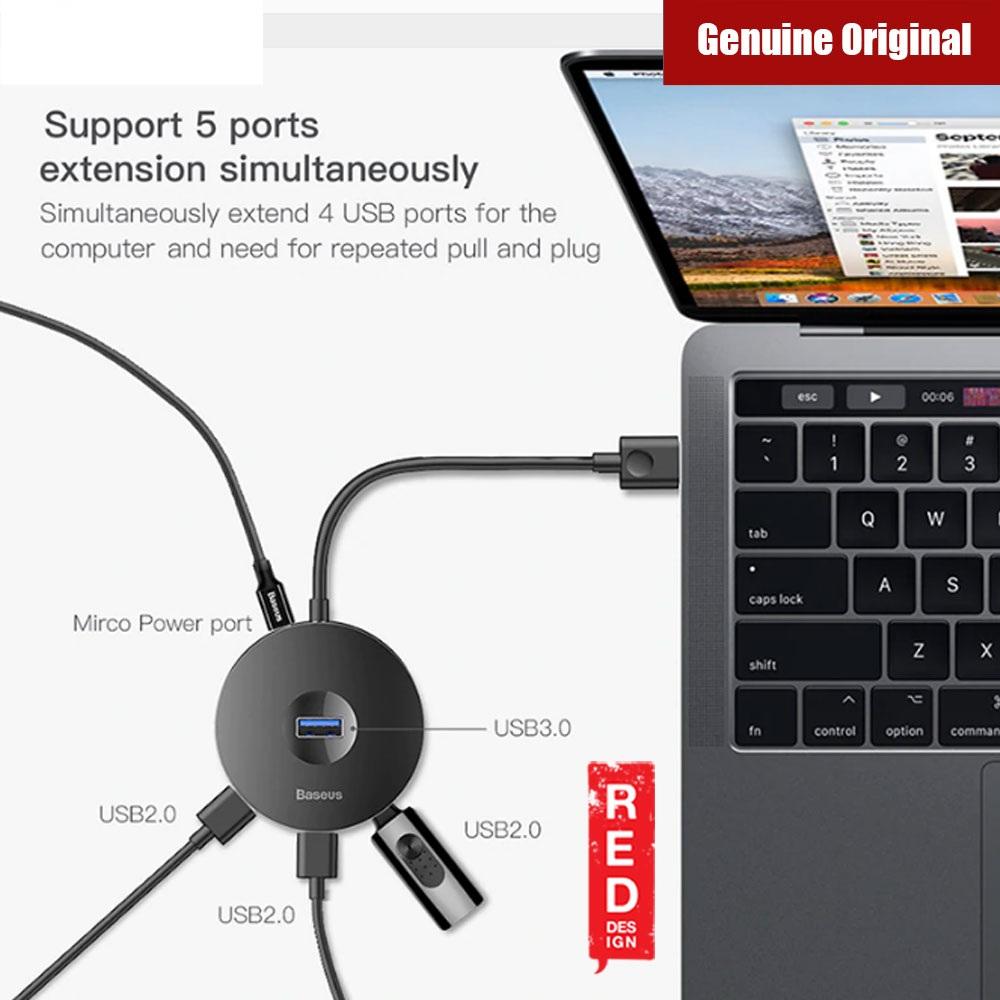 Bộ HUB chuyển đổi Baseus Round Box HUB ( USB 3.0 to USB 3.0*1 + USB 2.0*3 ) 3