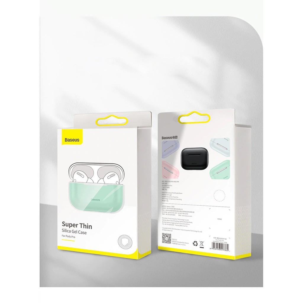 Bao Silicone siêu mỏng dùng cho Airpods Pro Baseus Super Thin Silica Gel  5
