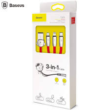 Cáp sạc 3 đầu Baseus Fuwang Series 3-in-1 3
