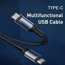 Cáp sạc Baseus Cafule Series USB C to C Chuẩn PD 2.0 Công Suất 100W  5