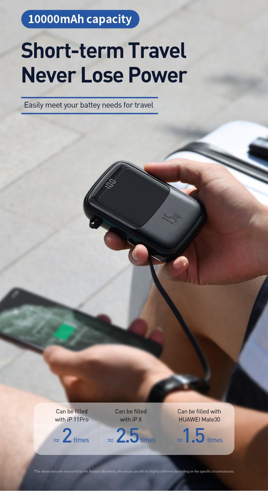 Pin Sạc Dự Phòng Baseus Q pow Digital Display 10.000mAh 7