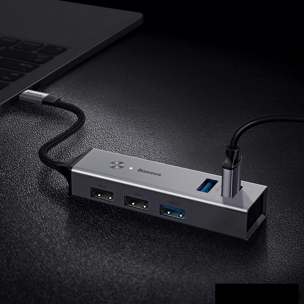 HUB chuyển đổi  Baseus Cube Type C to USB3.0 *3 + USB2.0*2  HUB Adapter  5