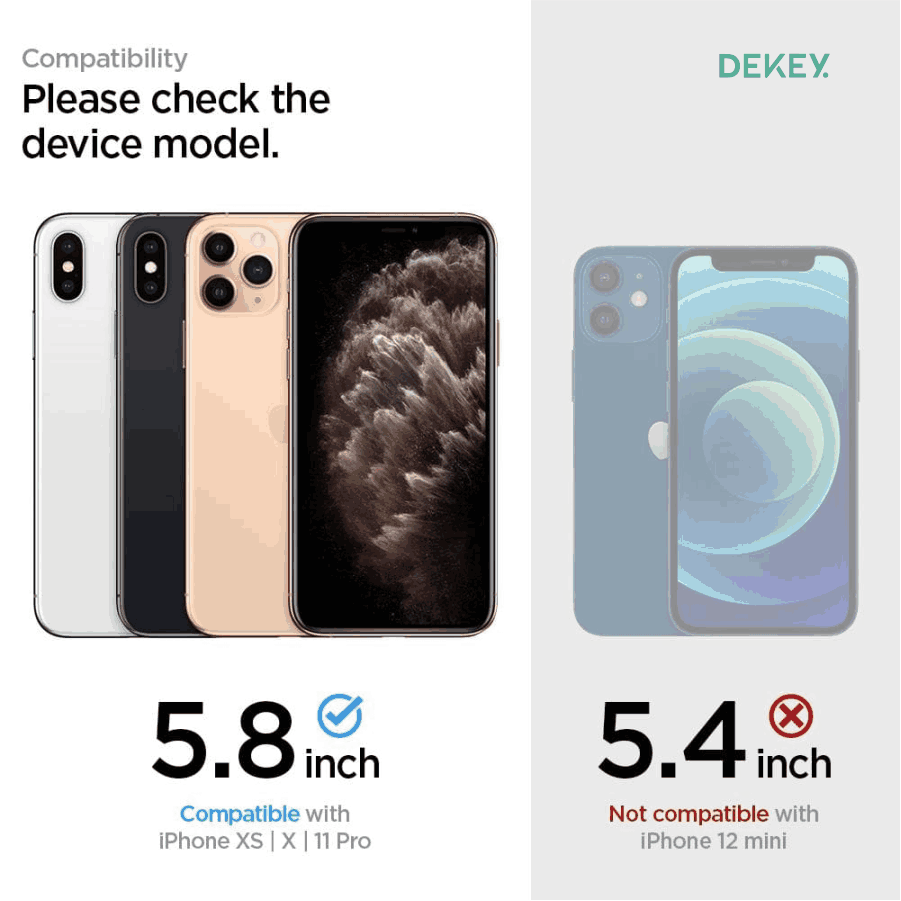 Dekey 3D Master Glass Deluxe iPhone X / XS  9